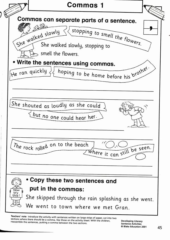 Commas In A Series Worksheet Best Of Ma In A Series Worksheets Image