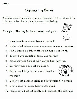 Commas In A Series Worksheet Best Of Smiling and Shining In Second Grade Mas In A Series