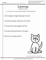 Commas In A Series Worksheet Fresh Ela Mas Dates Cities Items In A Series Worksheet 1