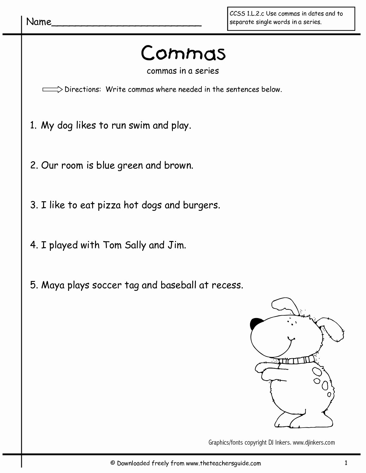 Commas In A Series Worksheet Inspirational Wonders Second Grade Unit Two Week Two Printouts