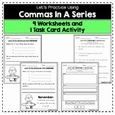 Commas In A Series Worksheet Luxury Mas In A Series Worksheet
