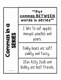Commas In A Series Worksheet New Grammar Worksheets Mas In A Series First Grade Free