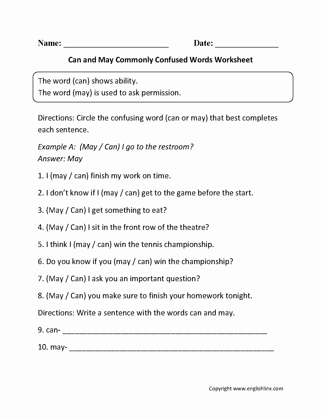 Commonly Confused Words Worksheet Awesome Shurley Grammar Worksheets