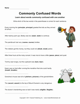 Commonly Confused Words Worksheet Beautiful Monly Confused Words 3