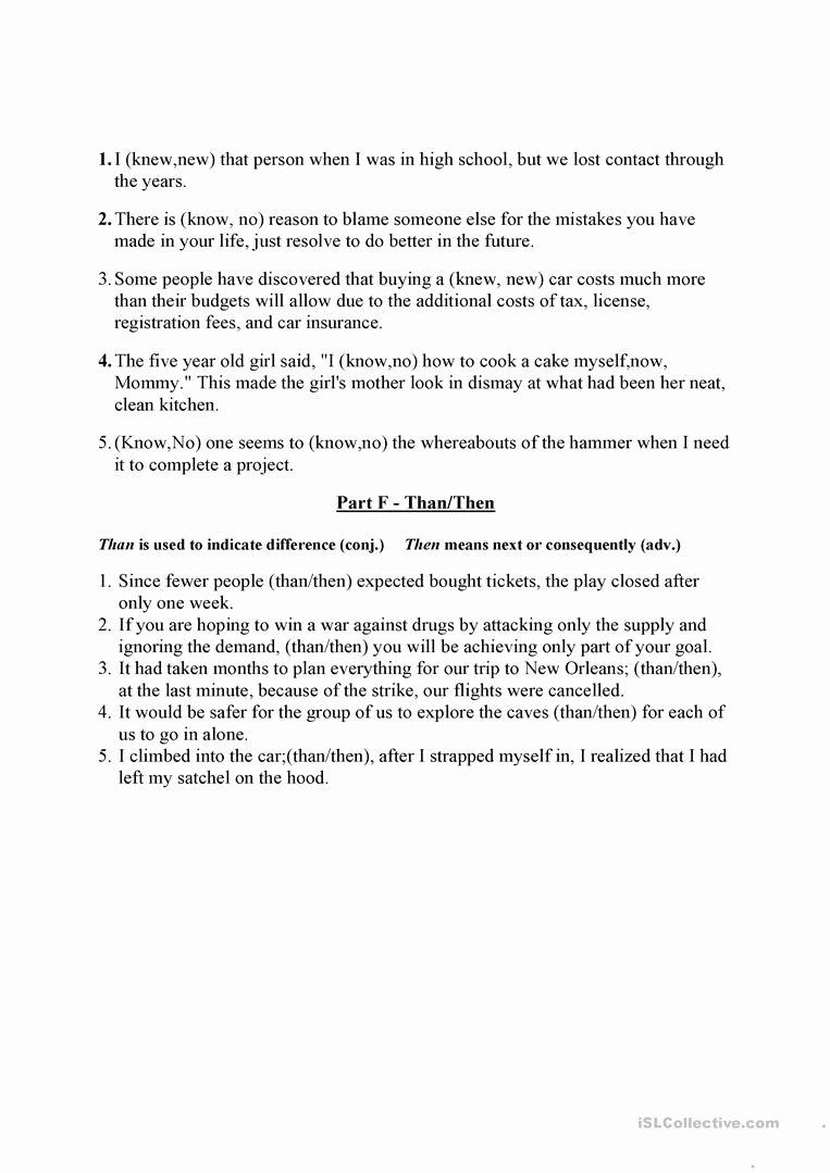 Commonly Confused Words Worksheet Beautiful Monly Confused Words English Esl Worksheets
