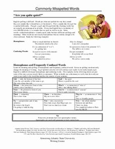 Commonly Misspelled Words Worksheet Inspirational Monly Misspelled Words Lesson Plans & Worksheets