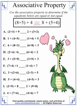 Commutative and associative Properties Worksheet Beautiful associative Property Of Addition Definition & Worksheets