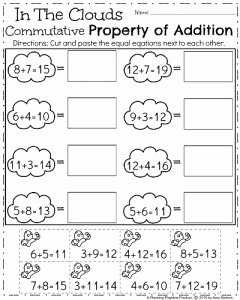 Commutative and associative Properties Worksheet Beautiful First Grade Worksheets for Spring Planning Playtime