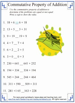 Commutative and associative Properties Worksheet Best Of Mutative Property Of Addition Definition & Worksheets