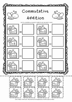 Commutative and associative Properties Worksheet Fresh 1st Grade Math and Literacy Worksheets for February