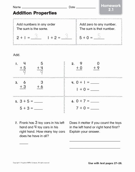 Commutative and associative Properties Worksheet Fresh 56 Properties Addition Worksheets Mutative Property