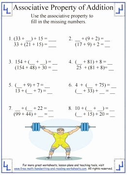 Commutative and associative Properties Worksheet Inspirational associative Property Of Addition Definition & Worksheets