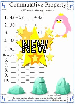 Commutative and associative Properties Worksheet Inspirational Mutative Property Of Addition Definition & Worksheets