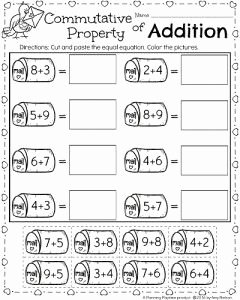 Commutative and associative Properties Worksheet Luxury Math Math Worksheets and 1st Grade Math On Pinterest