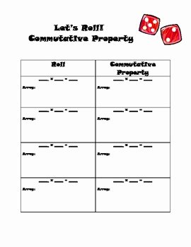 Commutative and associative Properties Worksheet Unique Multiplication Mutative Property Worksheet by Kristen