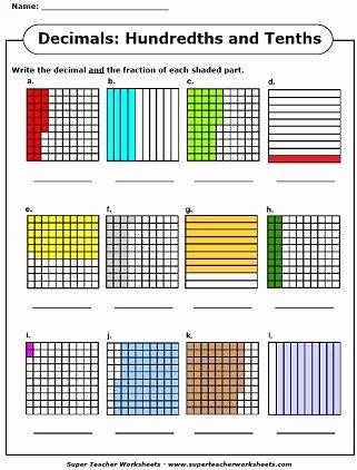 Comparing Fractions and Decimals Worksheet Awesome Decimal Worksheets