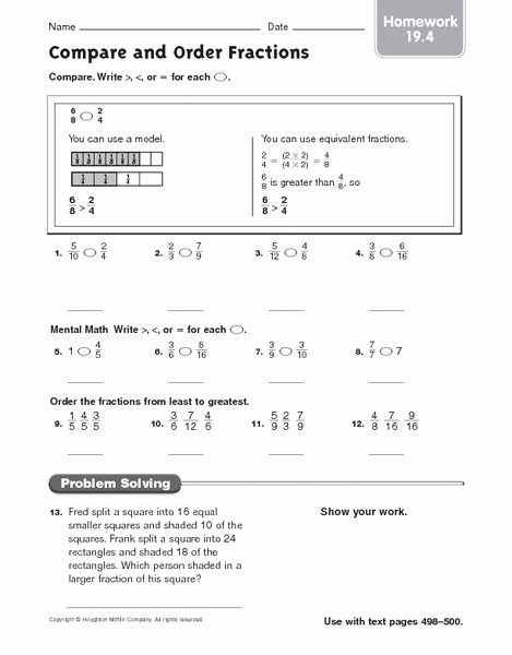 Comparing Fractions and Decimals Worksheet New ordering Decimals Homework Sheet Essay About Money