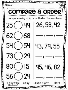 Comparing Rational Numbers Worksheet Lovely First Grade Math Unit 11 Paring Numbers Skip Counting