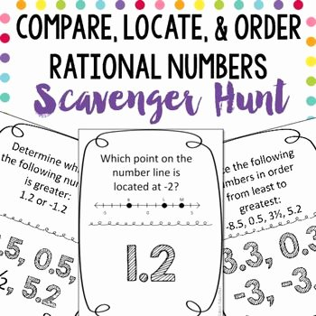 Comparing Rational Numbers Worksheet New 17 Best Images About Math Projects On Pinterest