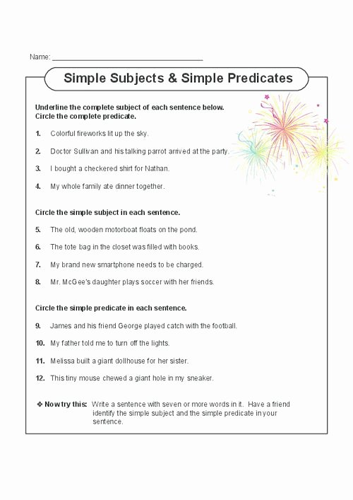 Complete Subject and Predicate Worksheet Beautiful Best 25 Simple Subject and Predicate Ideas On Pinterest