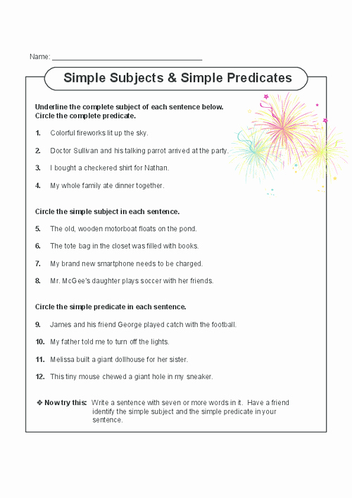 Complete Subject and Predicate Worksheet Elegant Sweet Spelling & Typing Bee