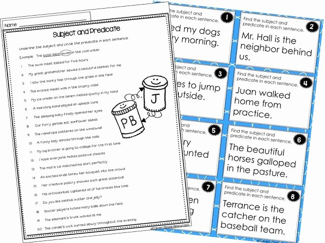 Complete Subject and Predicate Worksheet Elegant Writing Mini Lesson 2 Plete Sentences Rockin Resources
