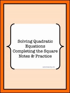 Completing the Square Practice Worksheet Best Of Activities by Jill All Products On Pinterest