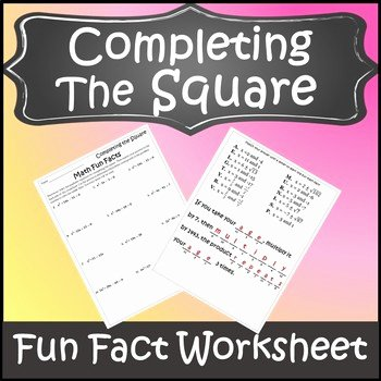 Completing the Square Practice Worksheet Fresh Pleting the Square Activity Pleting the Square