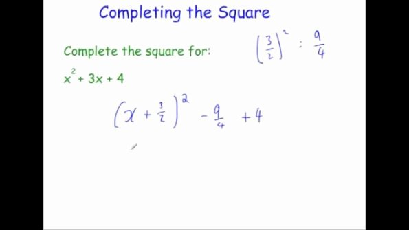 Completing the Square Practice Worksheet Inspirational Pleting the Square – Video 10