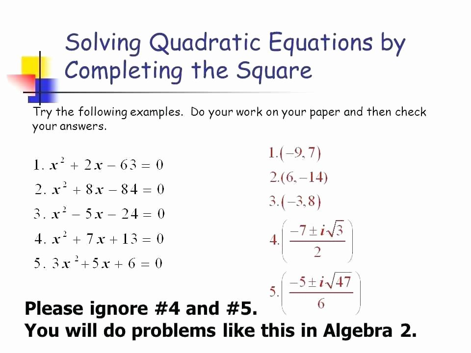 Completing the Square Practice Worksheet Lovely Algebra 1 Problem solving Worksheets – Skgold
