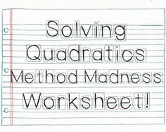 Completing the Square Practice Worksheet Luxury Quadratic formula Color by Number