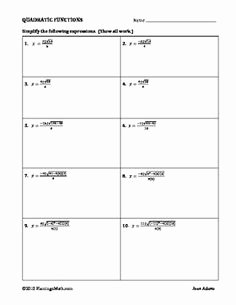 Completing the Square Practice Worksheet New Pleting the Square Worksheets that Guide Students to
