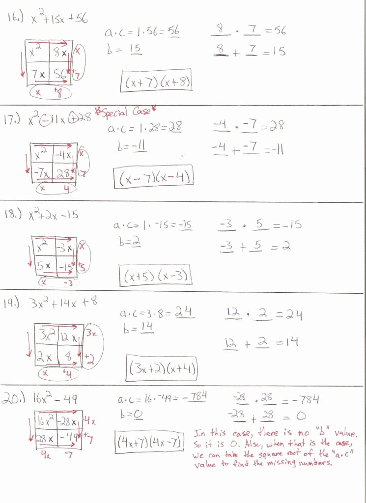 Completing the Square Worksheet Awesome Math 154b Pleting the Square Worksheet Answers