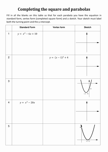 Completing the Square Worksheet Beautiful Exact Value Trigonometry by Pas1001 Teaching Resources Tes