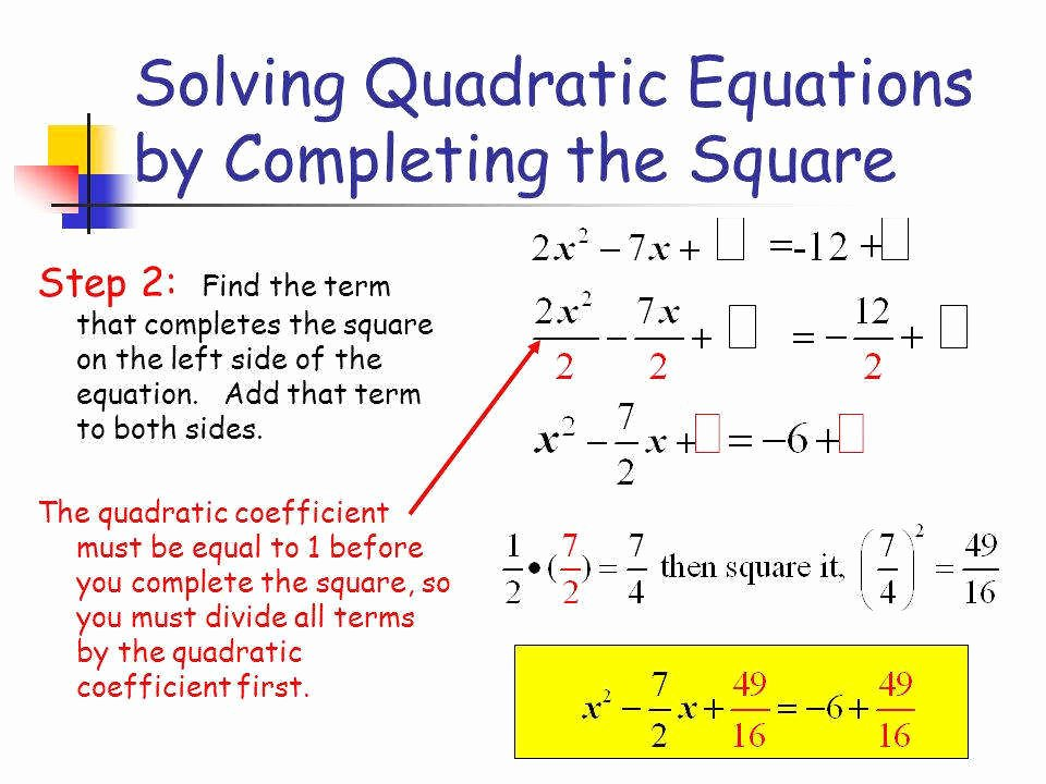 Completing the Square Worksheet Beautiful Pleting the Square Worksheet