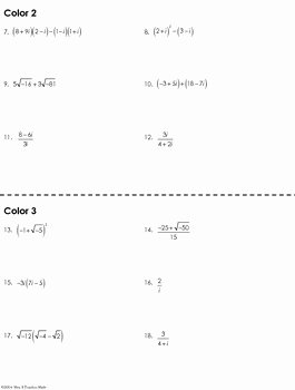 Complex Numbers Worksheet Answers Awesome Plex Numbers Coloring Worksheet by Mrs E Teaches Math