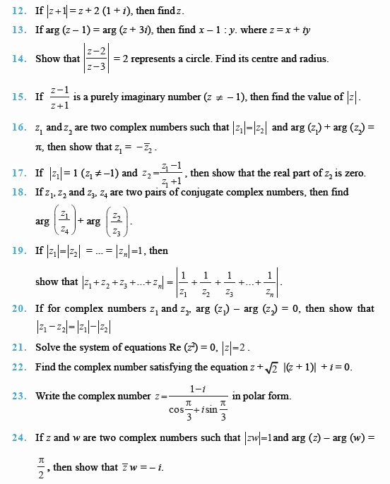 Complex Numbers Worksheet Answers Elegant Class 11 Important Questions for Maths – Plex Numbers