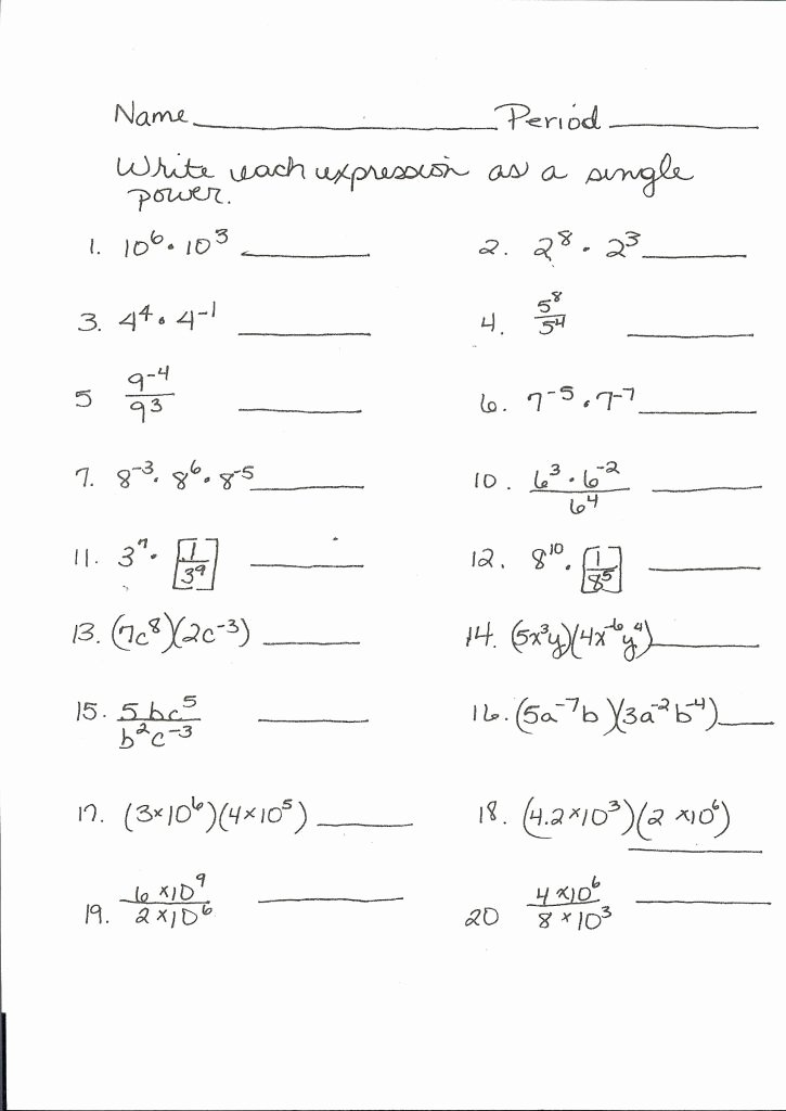 Complex Numbers Worksheet Answers Inspirational Algebra 3 4 Plex Numbers Worksheet Answers
