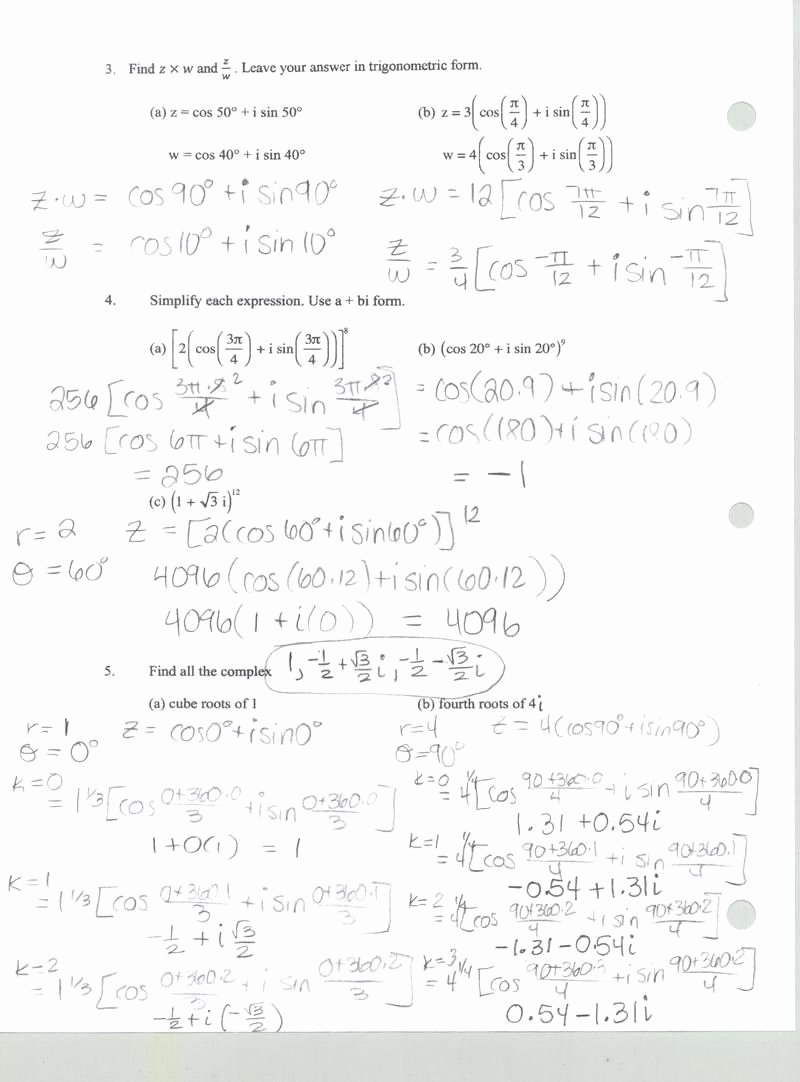Complex Numbers Worksheet Answers New Imaginary Numbers Worksheet Pdf Geo Kids Activities
