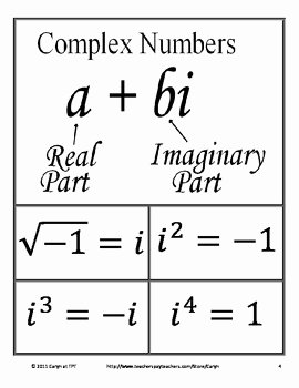 Complex Numbers Worksheet Answers Unique Plex Number Imaginary Maze Review Worksheet by