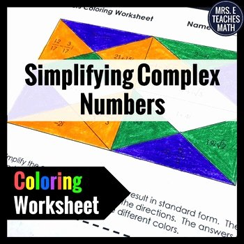 Complex Numbers Worksheet Pdf Fresh Plex Numbers Coloring Worksheet by Mrs E Teaches Math