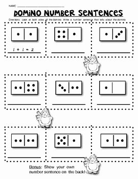 Composing and Decomposing Numbers Worksheet Awesome Domino Math Worksheets Posing and De Posing Numbers