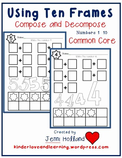 Composing and Decomposing Numbers Worksheet Awesome Pose and De Pose Numbers 1 to 10