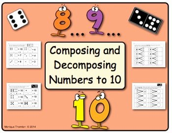 Composing and Decomposing Numbers Worksheet Awesome Posing and De Posing Numbers to 10 by La Petite
