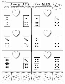 Composing and Decomposing Numbers Worksheet Awesome Valentine Domino Math Worksheets Posing and
