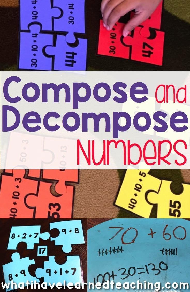 Composing and Decomposing Numbers Worksheet Beautiful Pose & De Pose Numbers for Addition & Subtraction