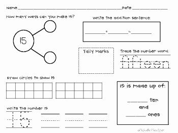 Composing and Decomposing Numbers Worksheet Beautiful Posing and De Posing Numbers Number Bonds by Teaching