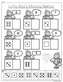 Composing and Decomposing Numbers Worksheet Beautiful Winter Wonderland Posing and De Posing Numbers