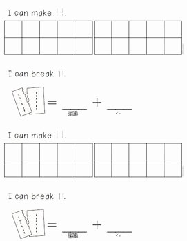 Composing and Decomposing Numbers Worksheet Elegant Posing and De Posing Numbers 11 19 Differentiated