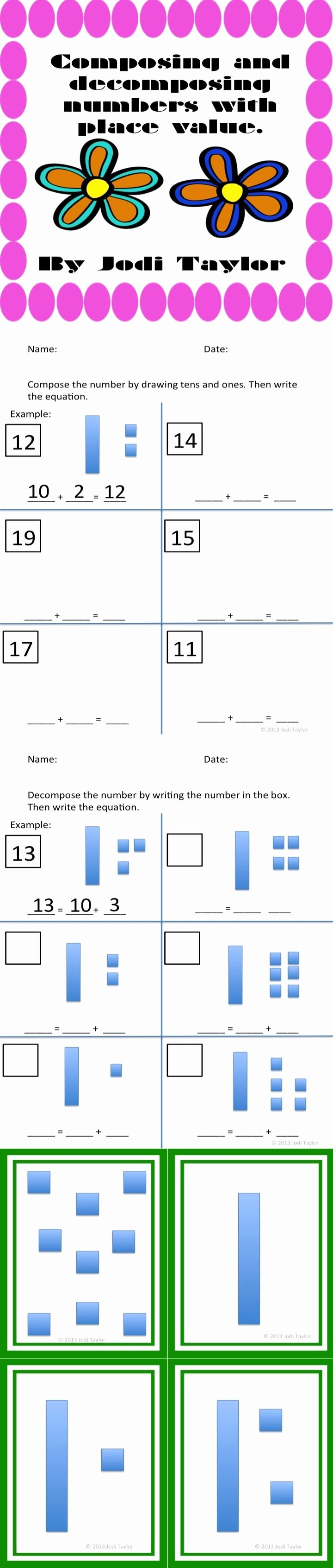 Composing and Decomposing Numbers Worksheet Inspirational 69 Best Images About Math Place Value On Pinterest